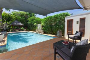 Backyard with swimming pool